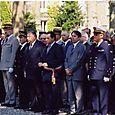 Au monument aux morts de Rambouillet, le 14 juillet 2005