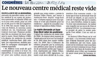 La maison médicale (Le Parisien 210514)