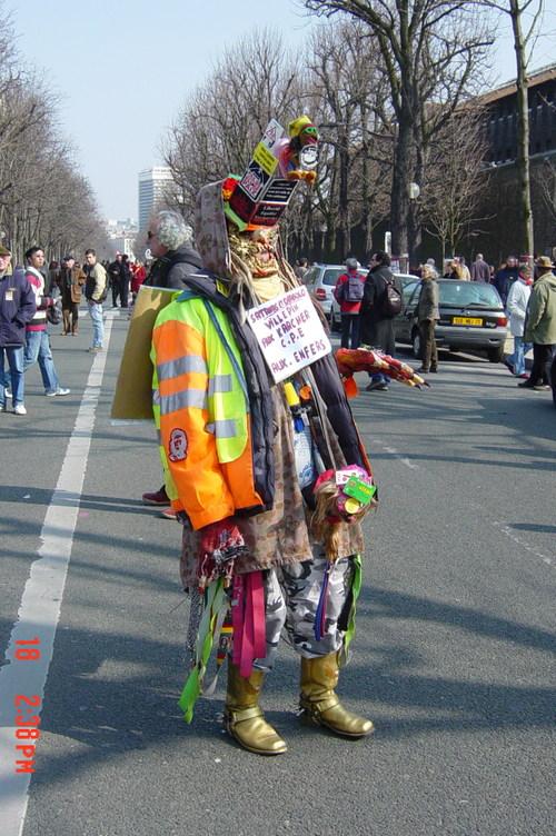 Un drôle de manifestant