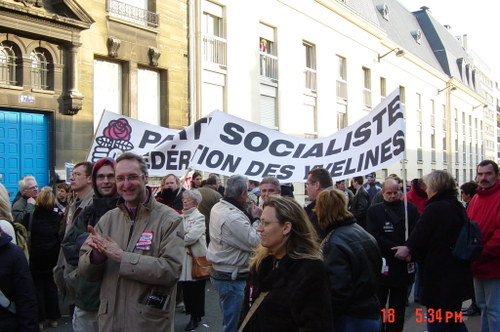 La célèbre banderole des Yvelines
